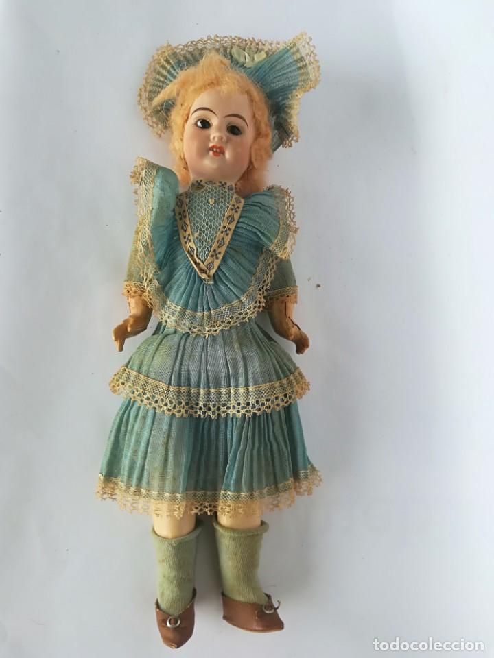 Muñecas Porcelana: MUÑECA PORCELANA Y COMPOSICIÓN TIPO FLEISCHMANN CON ROPA ORIGINAL Y CAJA - Foto 6 - 172020407