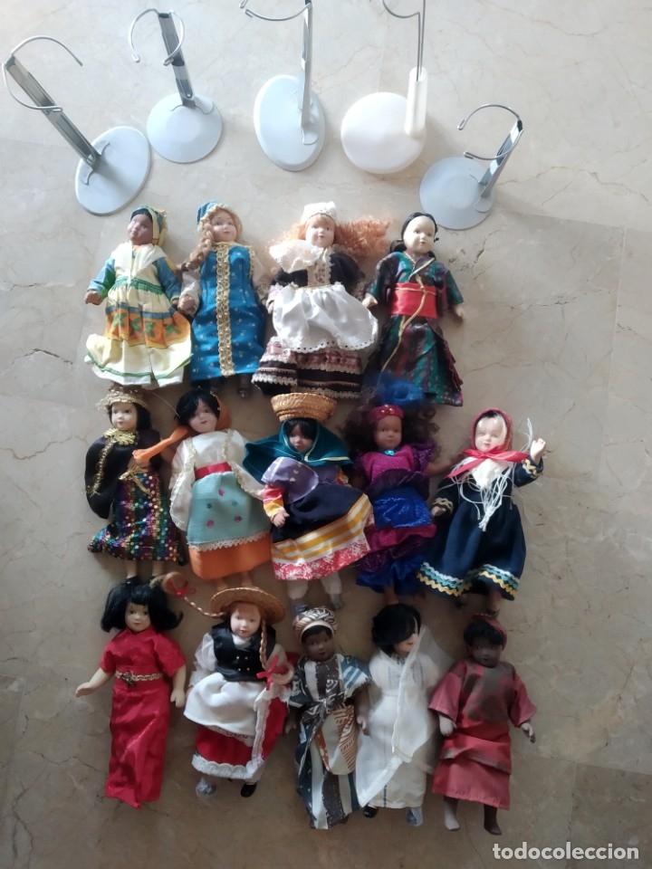 LOTE MUÑECAS PORCELANA (Juguetes - Muñeca Extranjera Moderna - Porcelana)