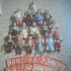 Muñecas Porcelana: BUEN LOTE DE MUÑECAS DE CUENTO EN PORCELANA - 16 MUÑECOS - CON SUS FASCÍCULOS CORRESPONDIENTES. Lote 172889690