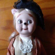 Muñecas Porcelana: GATO CON BOTAS - PRECIOSA MUÑECA DE PORCELANA - . Lote 173893529