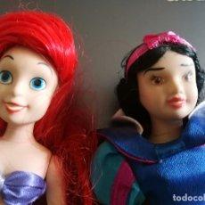 Muñecas Porcelana: MUÑECAS DISNEY DE PORCELANA. SIRENITA ARIEL Y BLANCANIEVES.. Lote 174463195