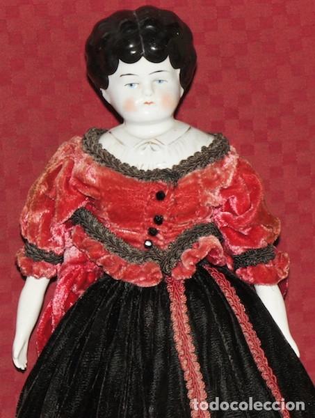 Muñecas Porcelana: Antigua muñeca morena China Doll de 40 cm - Foto 2 - 175069225