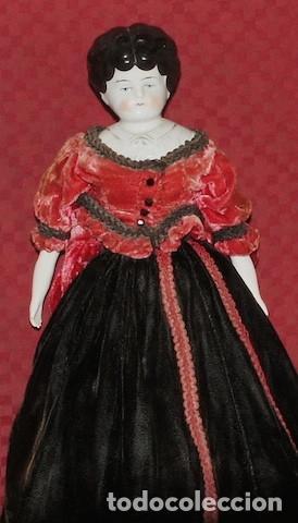 Muñecas Porcelana: Antigua muñeca morena China Doll de 40 cm - Foto 3 - 175069225