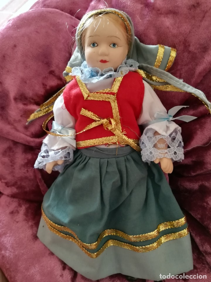 MUÑECA CERÁMICA TÍPICA PAISES (Juguetes - Muñeca Extranjera Moderna - Porcelana)