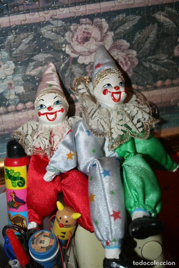 DOS PAYASOS DE PORCELANA (Juguetes - Muñeca Extranjera Moderna - Porcelana)
