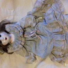 Muñecas Porcelana: MUÑECA DE PORCELANA VINTAGE OJOS PINTADOS. Lote 177234022
