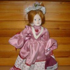 Muñecas Porcelana: MUÑECA CON CABEZA Y MANOS DE PORCELANA Y CUERPO DE TRAPO. 43 CM. Lote 177386050
