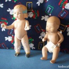 Muñecas Porcelana: DOS MUÑECOS DE PORCELANA SIN ROPA. Lote 177547938