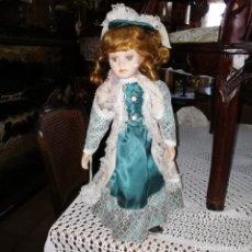 Muñecas Porcelana: MUÑECA MEDIADOS SIGLO XX, DE PORCELANA. Lote 177613625
