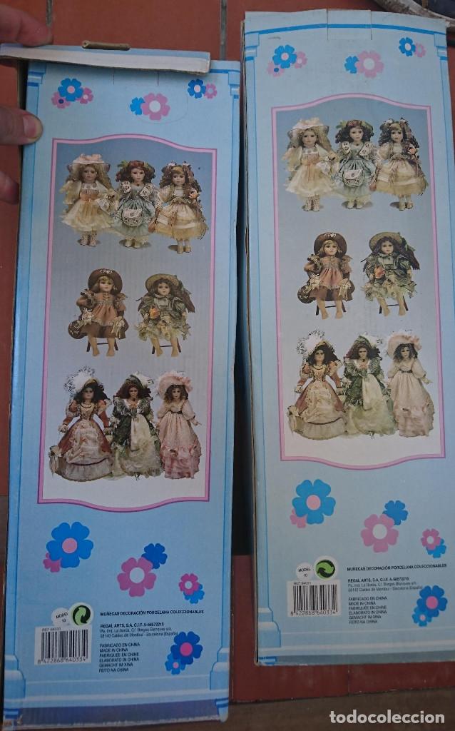 Muñecas Porcelana: ocasion coleccionistas dos antiguas muñecas de porcelana años 80 90 marca REGAL ARTS en su caja - Foto 5 - 178021575