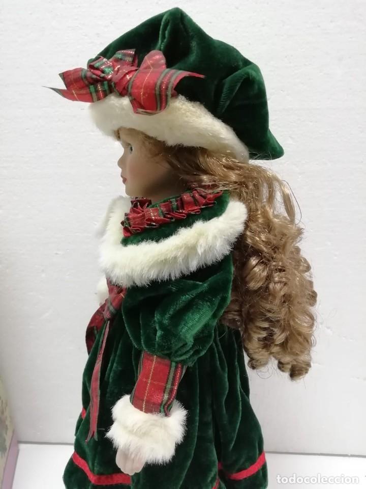 Muñecas Porcelana: MUÑECA PORCELANA ESTILO VICTORIANO AIRE NAVIDEÑO 40CM AÑOS 90 ALMACÉN - Foto 2 - 178069739