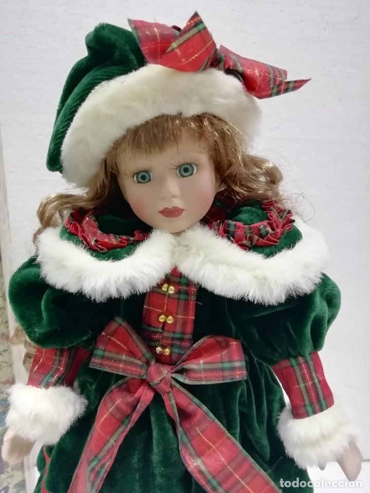 Muñecas Porcelana: MUÑECA PORCELANA ESTILO VICTORIANO AIRE NAVIDEÑO 40CM AÑOS 90 ALMACÉN - Foto 4 - 178069739