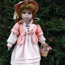 Muñecas Porcelana: MUÑECA DE PORCELANA 60CM. Lote 178223358
