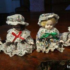 Muñecas Porcelana: 4 MUÑEQUITAS DE PORCELANA. Lote 180019461