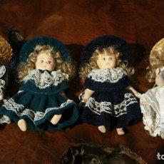 Muñecas Porcelana: 4 MUÑEQUITAS DE PORCELANA. Lote 180019733