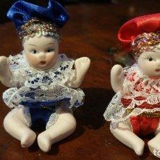 Muñecas Porcelana: DOS MUÑEQUITOS DE PORCELANA. Lote 180034503