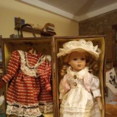 Muñecas Porcelana: MUÑECA ANTIGUA DE PORCELANA. Lote 180419093