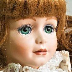 Muñecas Porcelana: ANNABEL BONITA MUÑECA PORCELANA ALBERON OJOS CRISTAL - 46.CM ALTO. Lote 180499907