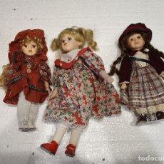 Muñecas Porcelana: LOTE DE 3 MUÑECAS DE PORCELANA. Lote 181073773