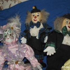 Muñecas Porcelana: PAYASOS DE PORCELANA, COLECCIÓN DE 22 UNIDADES. Lote 182090207