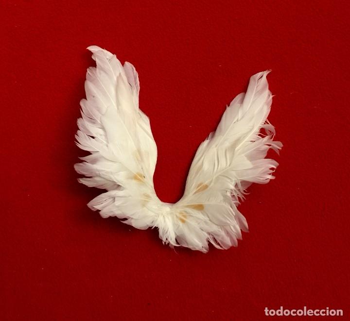 Muñecas Porcelana: ANGEL DE PORCELANA ALEMANA CON ALAS DE PLUMAS NATURALES. - Foto 8 - 182971890