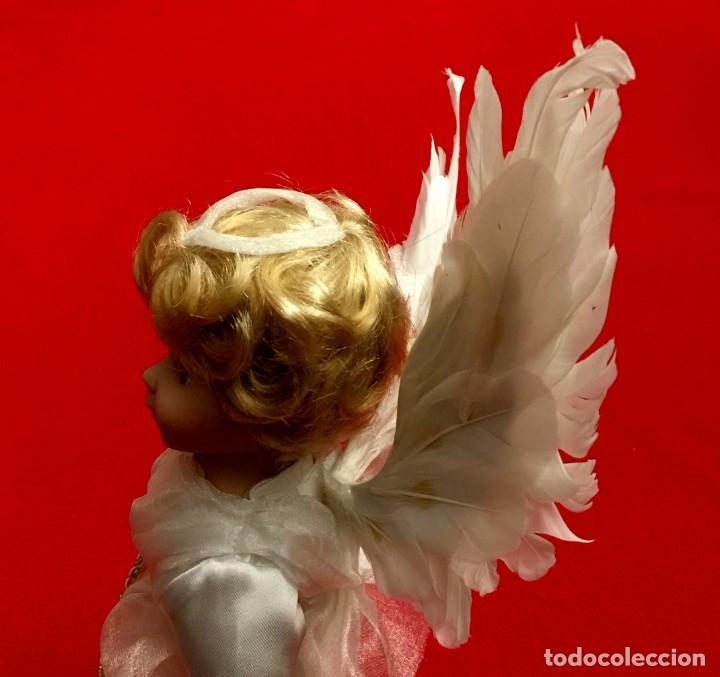 Muñecas Porcelana: ANGEL DE PORCELANA ALEMANA CON ALAS DE PLUMAS NATURALES. - Foto 9 - 182971890