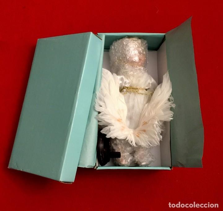 Muñecas Porcelana: ANGEL DE PORCELANA ALEMANA CON ALAS DE PLUMAS NATURALES. - Foto 11 - 182971890