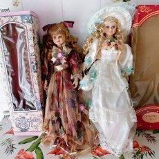 Muñecas Porcelana: MUÑECAS DE PORCELANA NUEVAS,45 CM DE ALTO. Lote 183948138
