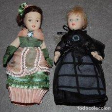 Muñecas Porcelana: LOTE DE DOS MUÑECAS DE PORCELANA DE COLECCIÓN. Lote 183963350