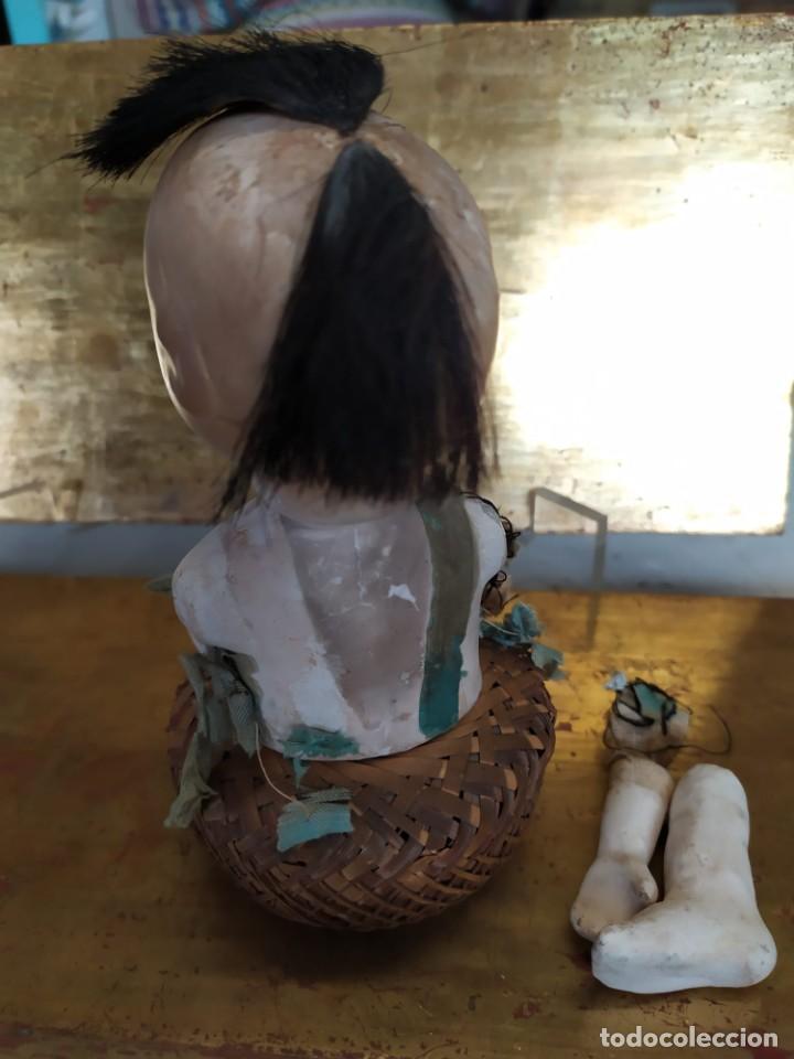 Muñecas Porcelana: Dos muñecos japoneses posiblemente del siglo XIX cabeza de pasta gofun orientales Japón - Foto 9 - 184570685