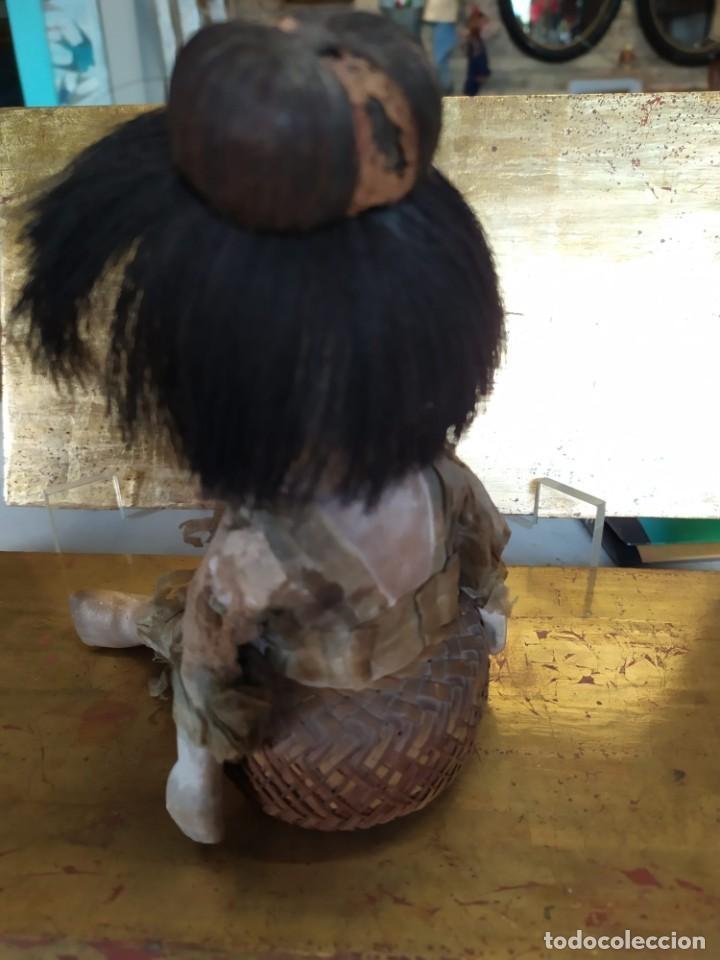 Muñecas Porcelana: Dos muñecos japoneses posiblemente del siglo XIX cabeza de pasta gofun orientales Japón - Foto 14 - 184570685
