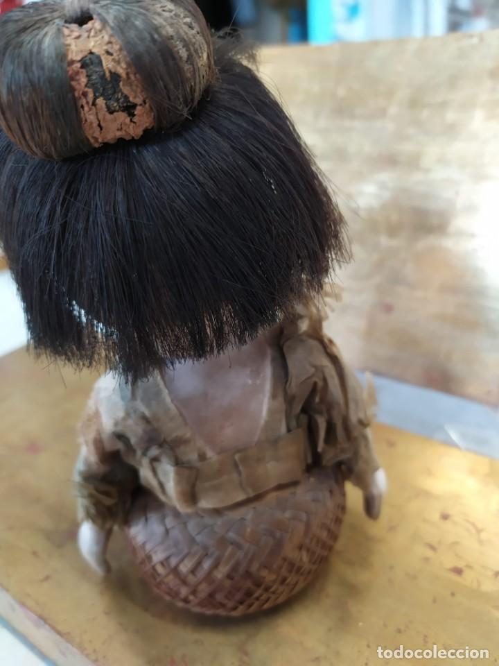 Muñecas Porcelana: Dos muñecos japoneses posiblemente del siglo XIX cabeza de pasta gofun orientales Japón - Foto 16 - 184570685