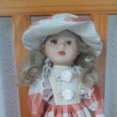 Muñecas Porcelana: PRECIOSA ANTIGUA MUÑECA PORCELANA. Lote 186154572