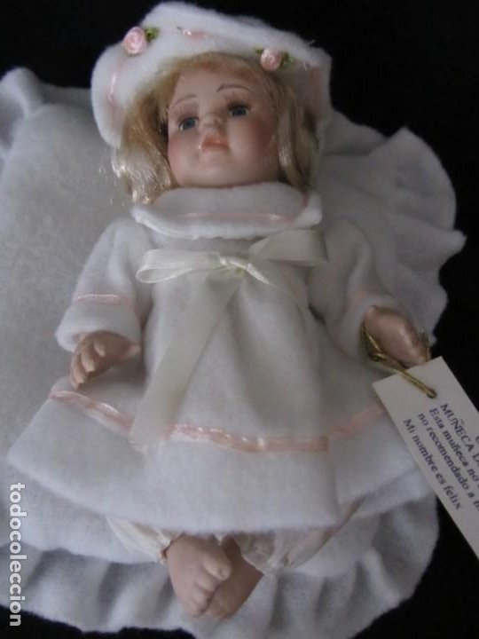 Muñecas Porcelana: Pequeña muñeca de porcelana. 20cm. Yalda. - Foto 6 - 189427547