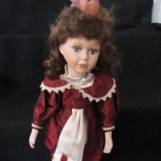 Muñecas Porcelana: MUÑECA PORCELANA. 43CM. NO TIENE SOPORTE. Lote 189428292