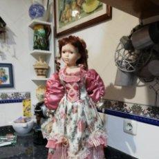 Muñecas Porcelana: MUÑECA DE PORCELANA DE 65CM.. Lote 189620587