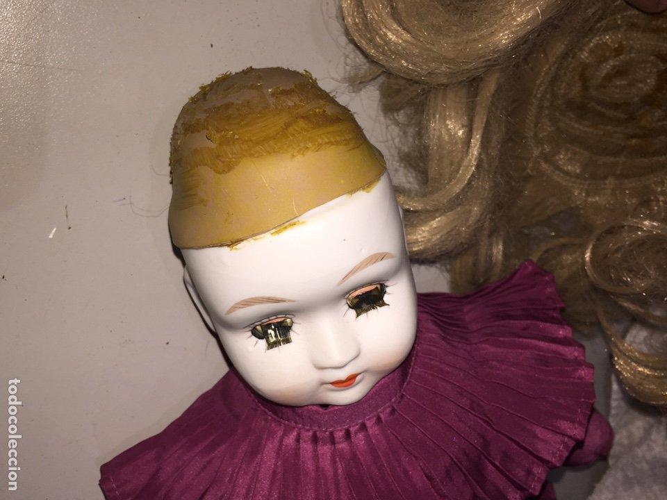 Muñecas Porcelana: Muñeca de porcelana antigua con ojos azules durmientes - Foto 3 - 190101290