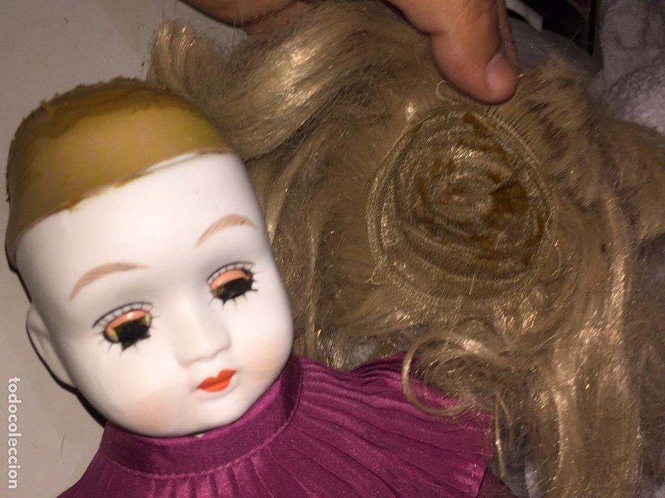 Muñecas Porcelana: Muñeca de porcelana antigua con ojos azules durmientes - Foto 4 - 190101290