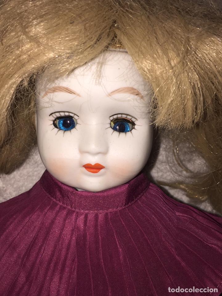 Muñecas Porcelana: Muñeca de porcelana antigua con ojos azules durmientes - Foto 5 - 190101290