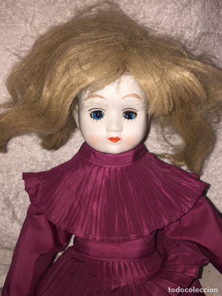 Muñecas Porcelana: Muñeca de porcelana antigua con ojos azules durmientes - Foto 2 - 190101290
