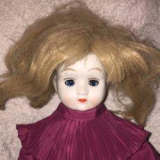 Muñecas Porcelana: MUÑECA DE PORCELANA ANTIGUA CON OJOS AZULES DURMIENTES. Lote 190101290