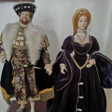 Muñecas Porcelana: PRECIOSA PAREJA DE ENRIQUE OCTAVO Y ESPOSA ,47 CM. Lote 191379505