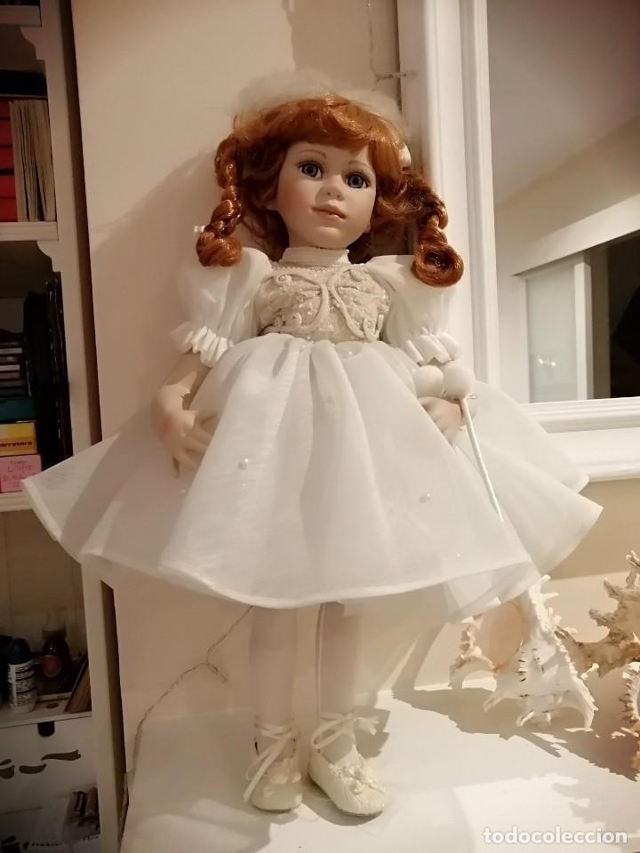 Muñecas Porcelana: Muñeca de coleccion mayorette de porcelana extranjera de edicion limitada de mi coleccion - Foto 4 - 192876200