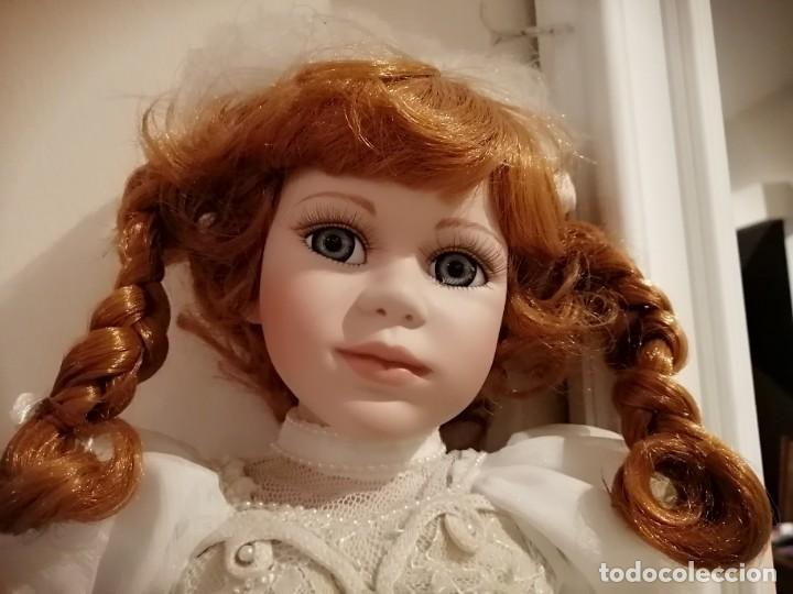 Muñecas Porcelana: Muñeca de coleccion mayorette de porcelana extranjera de edicion limitada de mi coleccion - Foto 5 - 192876200