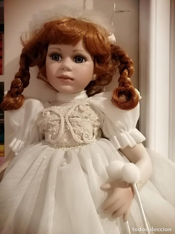 Muñecas Porcelana: Muñeca de coleccion mayorette de porcelana extranjera de edicion limitada de mi coleccion - Foto 10 - 192876200