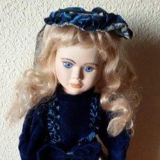 Muñecas Porcelana: MUÑECA DE PORCELANA Y TRAPO CON SOPORTE . 40 CM -. Lote 192898708