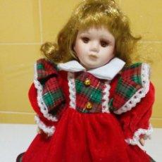Muñecas Porcelana: BONITA MUÑECA DE PORCELANA 22 CM. Lote 193027691
