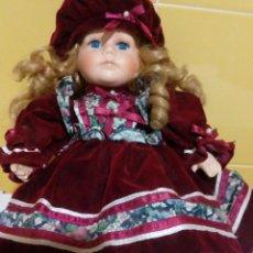 Muñecas Porcelana: BONITA MUÑECA DE PORCELANA 32 CM. Lote 193027777