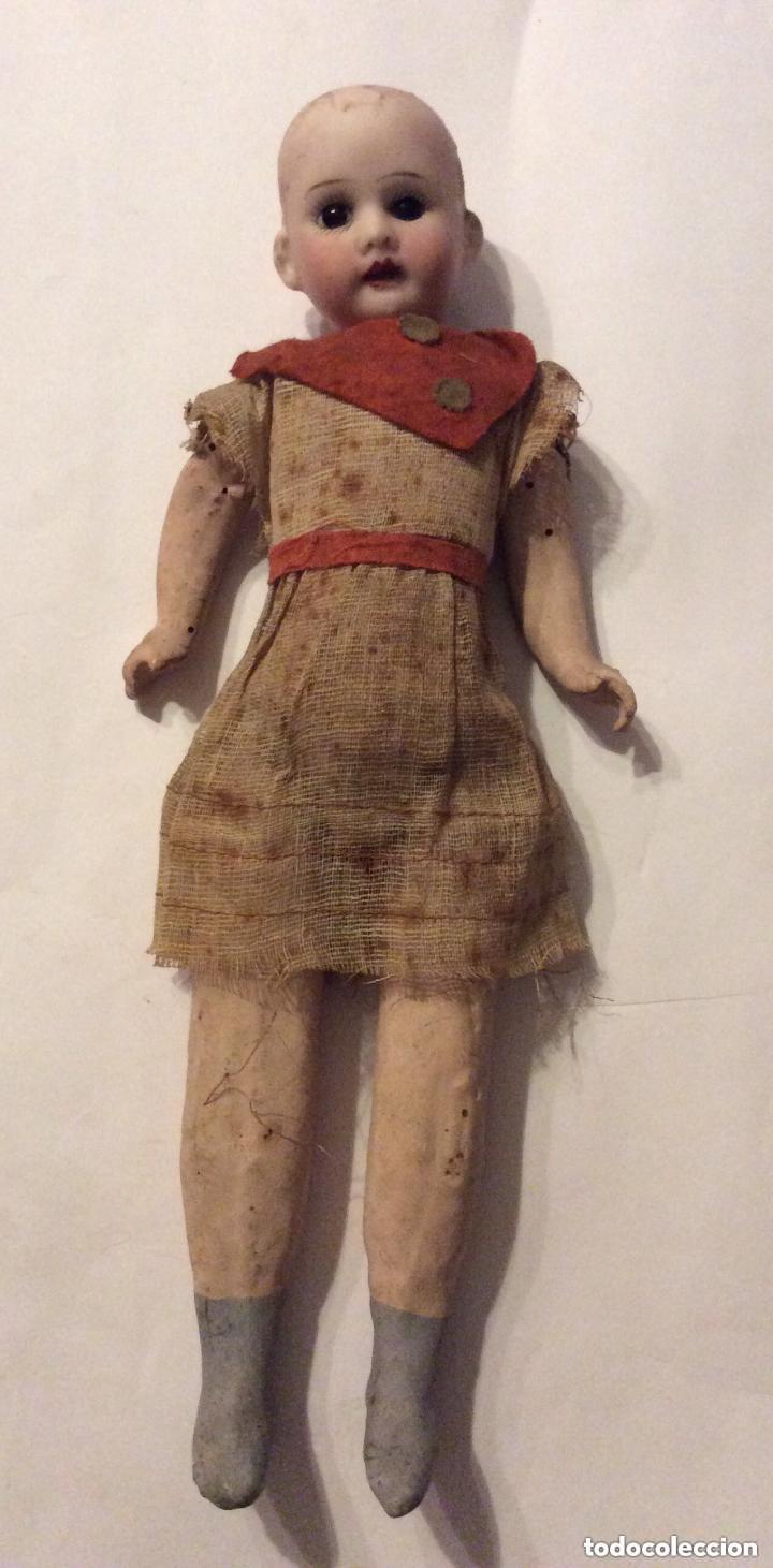 Muñecas Porcelana: ANTIGUA MUÑECA CARA PORCELANA Y CUERPO CARTON Y MADERA - 1904 EDUARDO JUAN MADE IN AUSTRIA - Foto 4 - 193084282