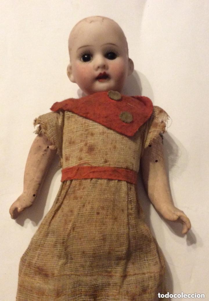 Muñecas Porcelana: ANTIGUA MUÑECA CARA PORCELANA Y CUERPO CARTON Y MADERA - 1904 EDUARDO JUAN MADE IN AUSTRIA - Foto 7 - 193084282